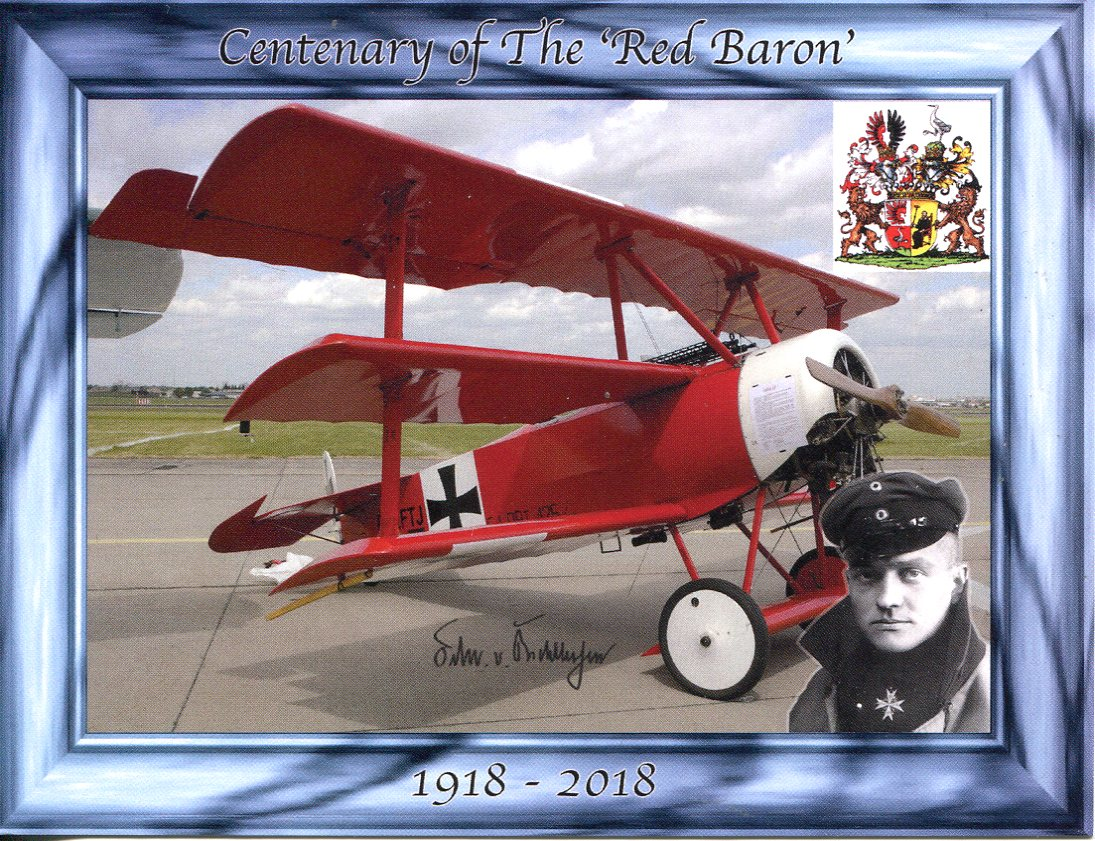 Centenary of the Death A. Richthofen (AKA Red Baron)