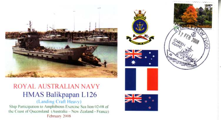 HMAS Balikpapan Sea Lion exercise cover