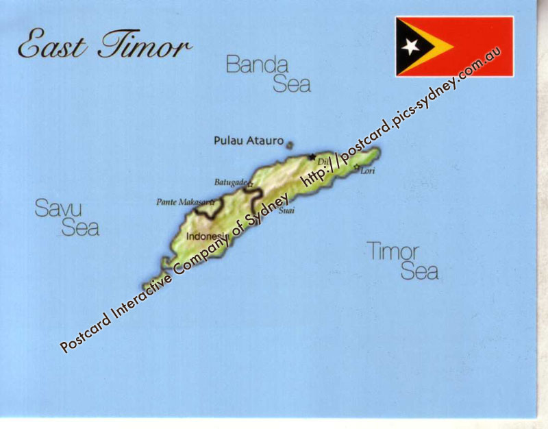Map of East Timor (Timor Leste)
