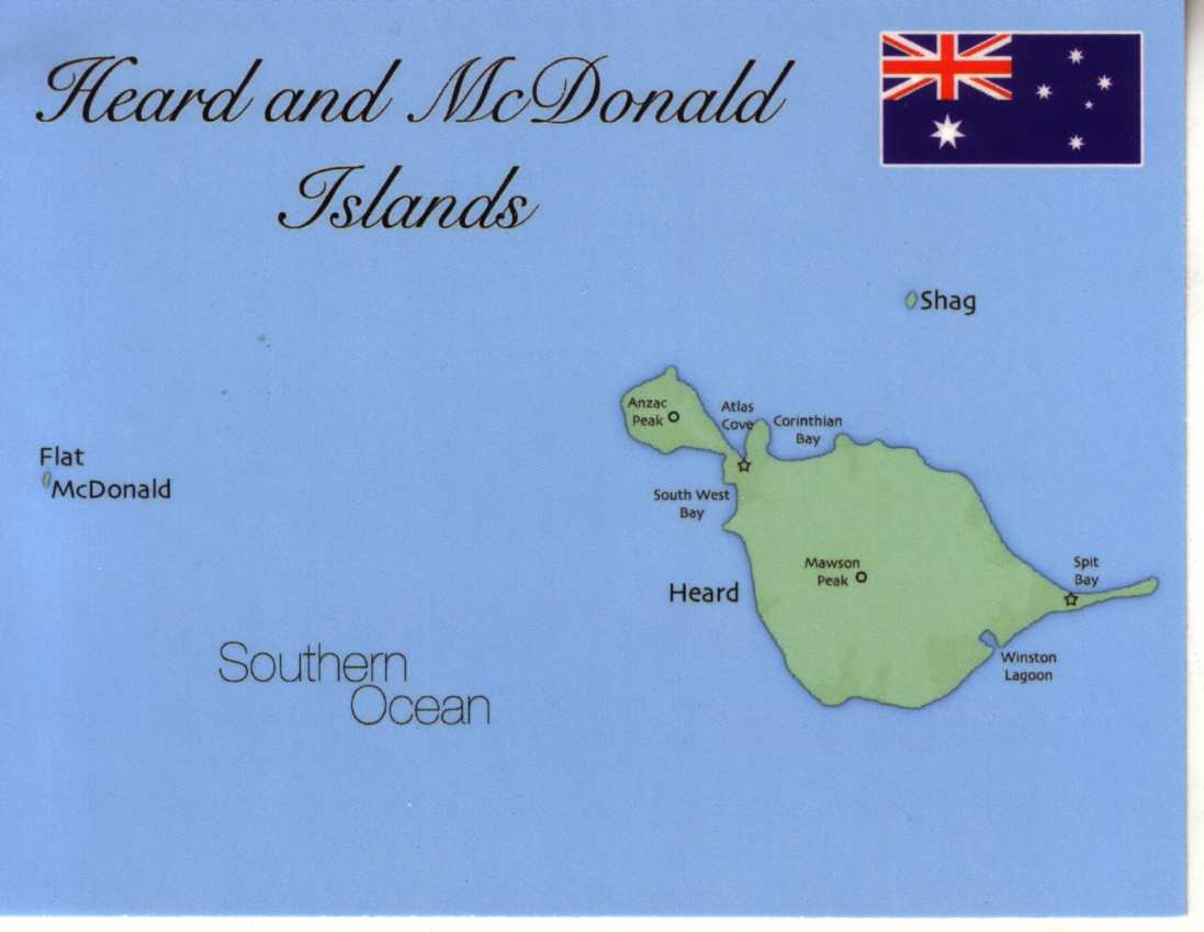 Map of Heard & McDonald Islands