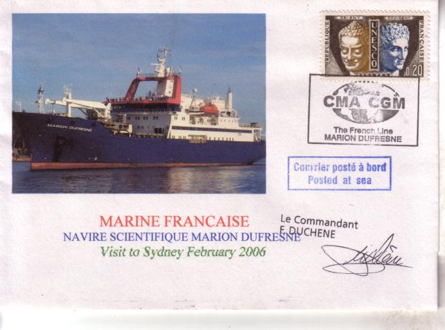 French Ship Marion Dufresne Cover