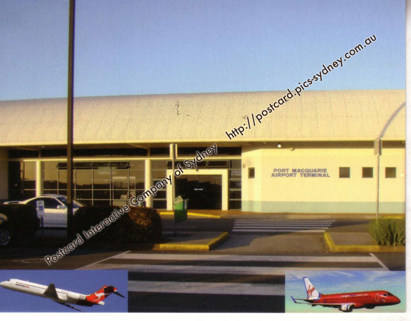nsw port macquarie airport avip07 postcard. Black Bedroom Furniture Sets. Home Design Ideas