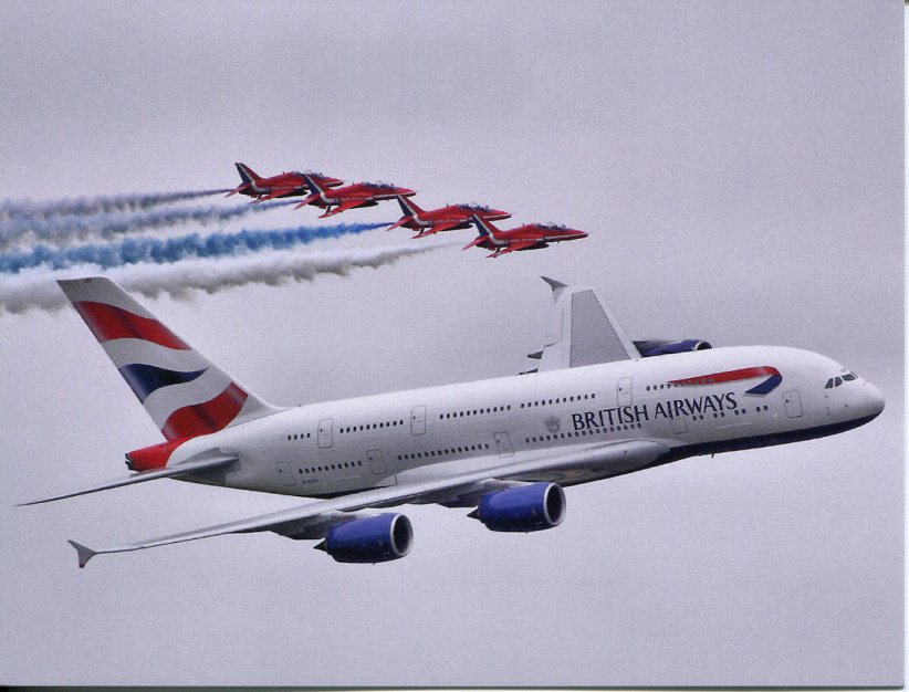Airbus A380 - British Airways (+ Red Arrows)