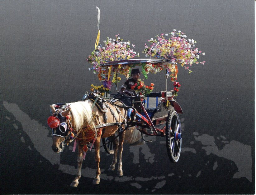 Indonesia - Jakarta Horse Carriage (+ map of Indonesia)