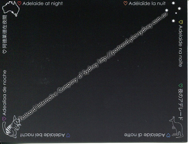 Adelaide at Night (black card)