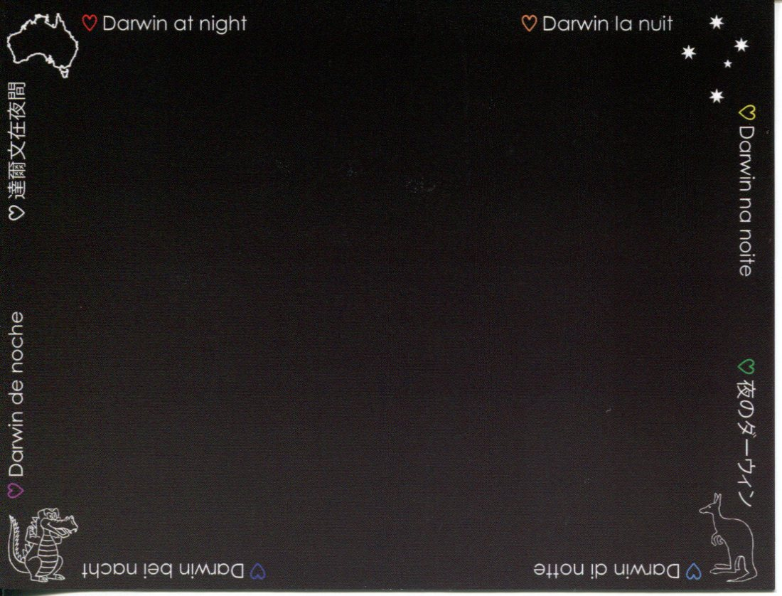 Darwin at Night (black card)