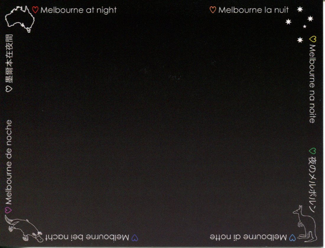 Melbourne at Night (black card)