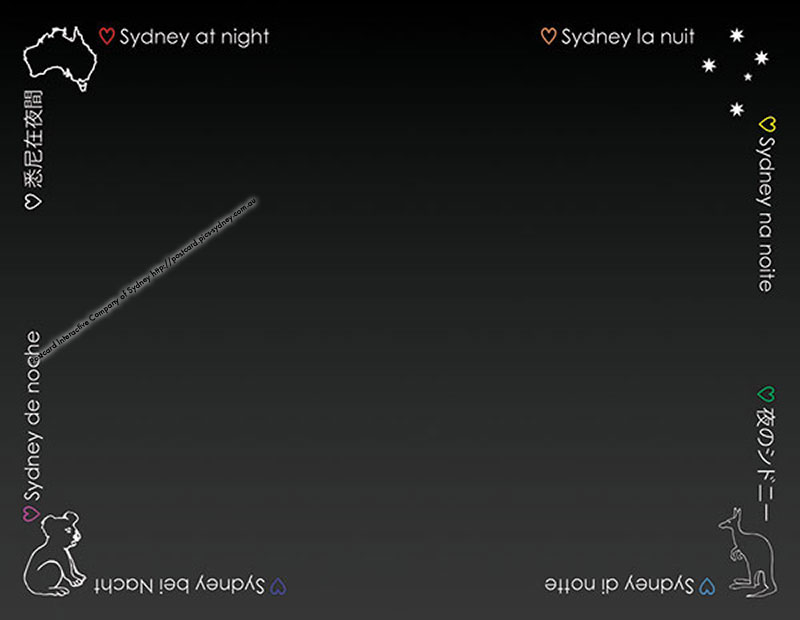 Sydney at Night (black card)