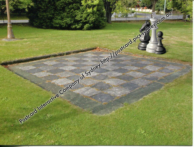 NSW - Blackeath, The Gardens Giant Chess Board