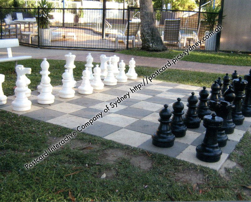 QLD - Big 4 Forest Glen Holiday Resort Giant Chess Board