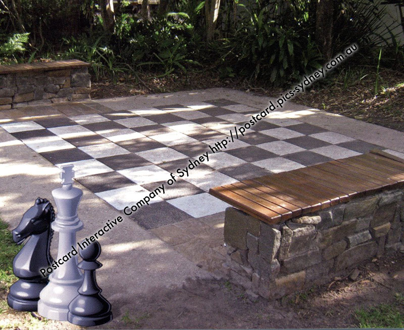 QLD - Caloundra Art Gallery Giant Chess Baord