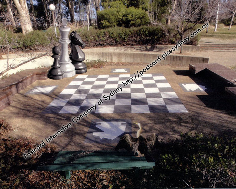 ACT - Commonwealth Park Giant Chess Board - Canberra