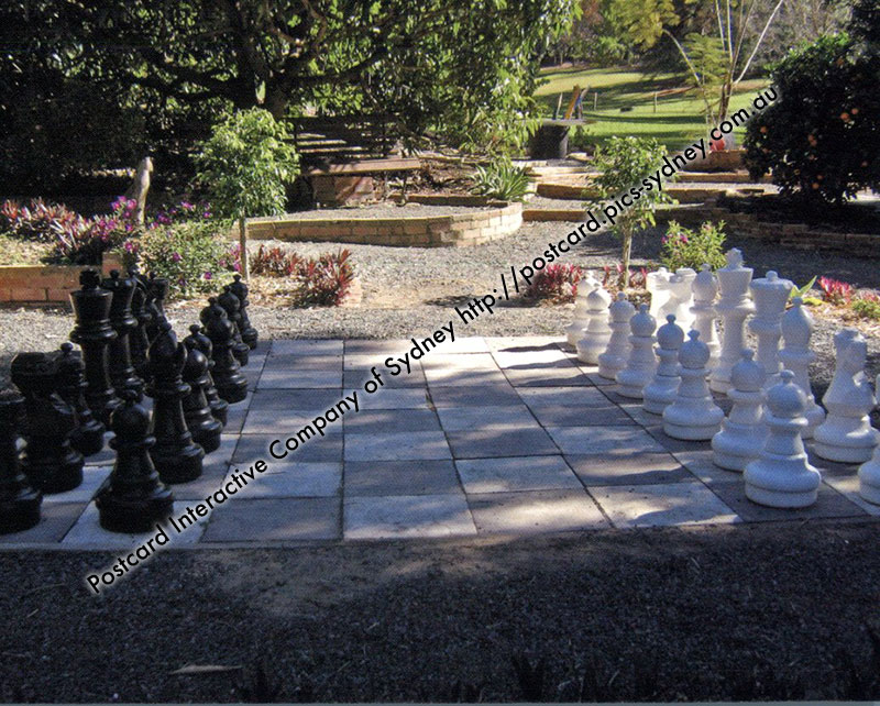QLD - Camelia House Giant Chess Board