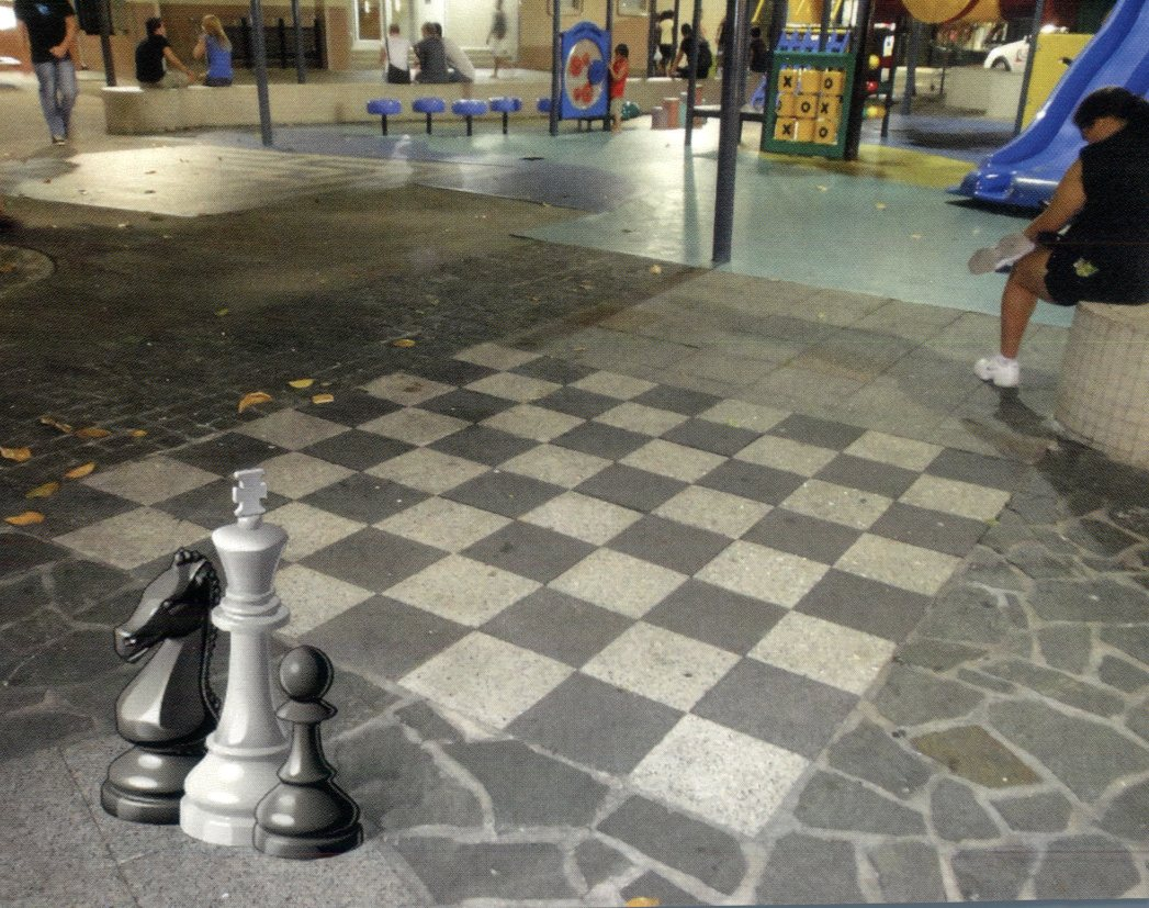 QLD - Cairns City Place, Giant Chess Board