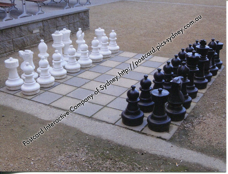 ACT - Davey Lodge - ANU - Canberra - Giant Chess Board