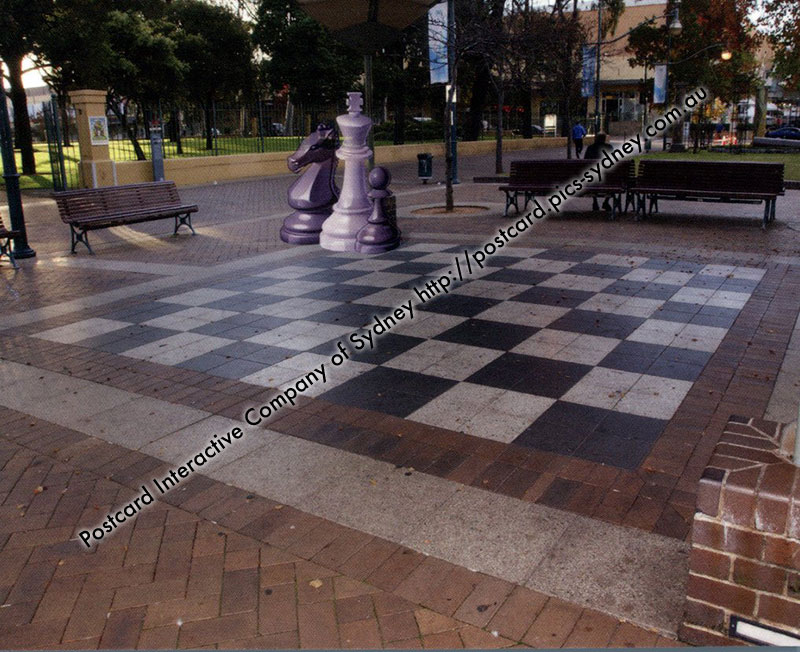 NSW - Liverpool, Macquarie Street, Giant Chess Board