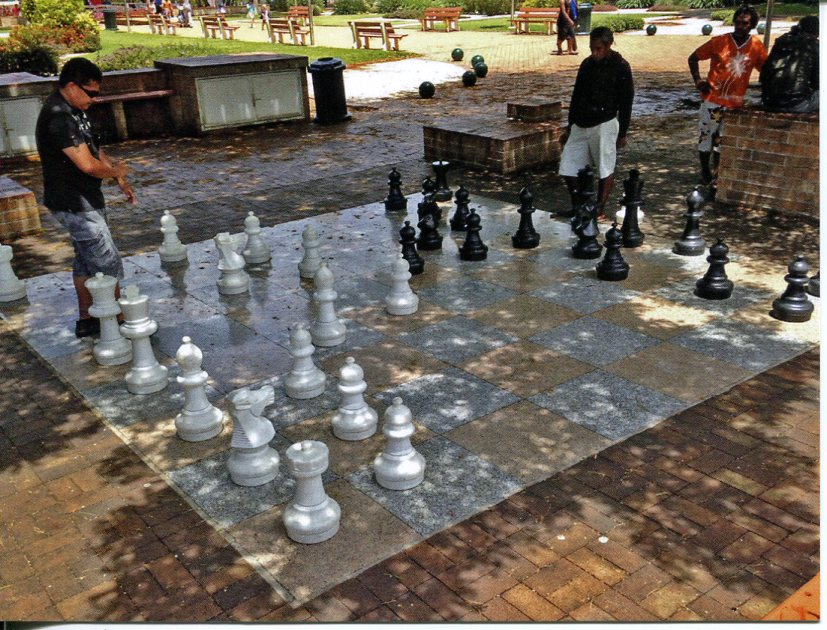 New Caledonia - Noum�a Giant Chess Board