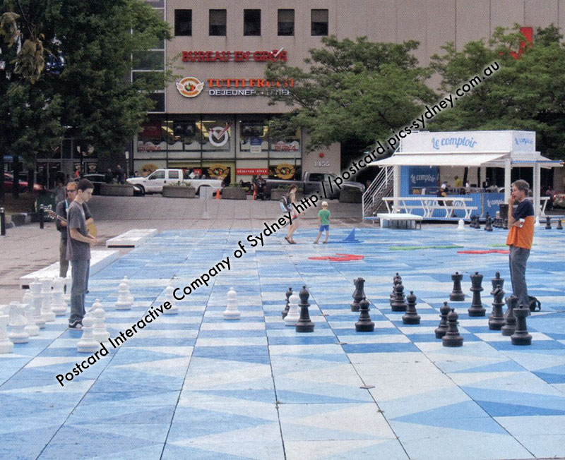 Canada - Place Emilie-Gamelin Giant Chess - Montr�al, Quebec