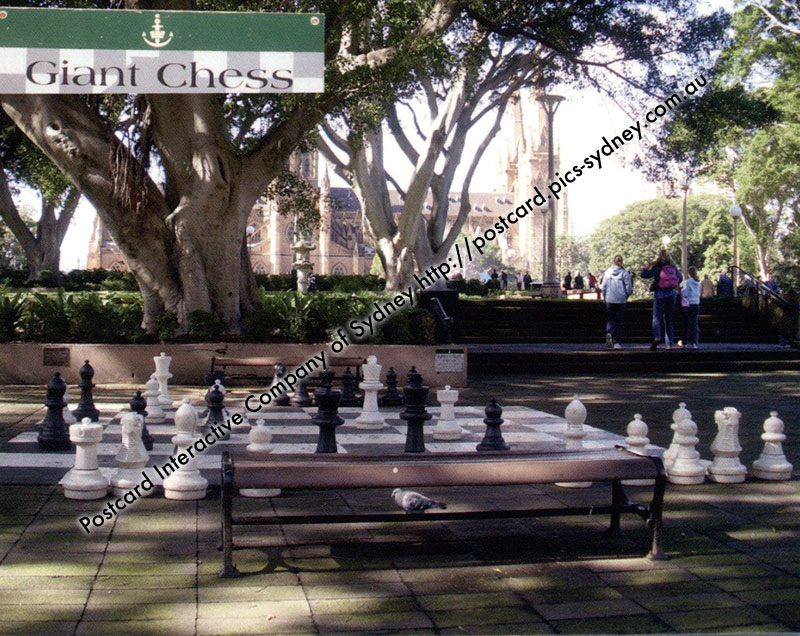 NSW - Sydney - Hyde Park - Giant Chess Board