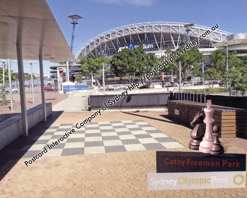 NSW - Sydney - Olympic Park Giant Chess Board - Click Image to Close