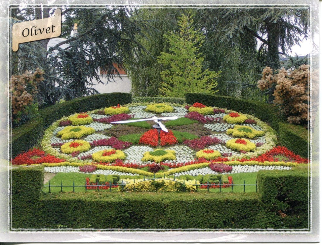 Olivet France  city photo : ... :: Floral or Flower Clock :: Floral Clock France Loiret Olivet