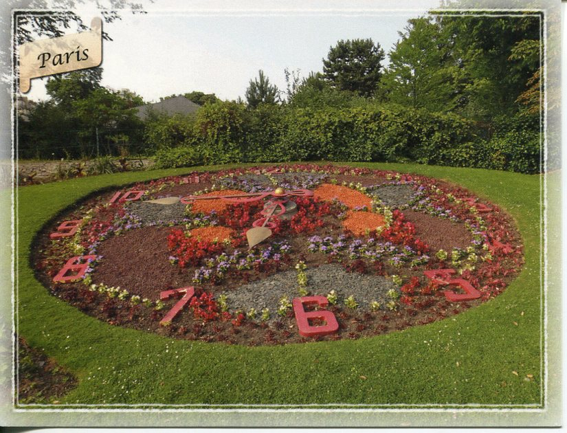 Floral Clock - France - Paris - Jardin d'Acclimatation