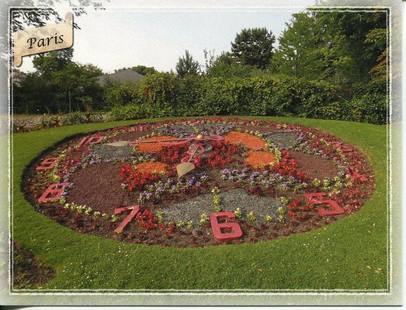 Floral clock france paris jardin d 39 acclimatation for Au jardin d acclimatation