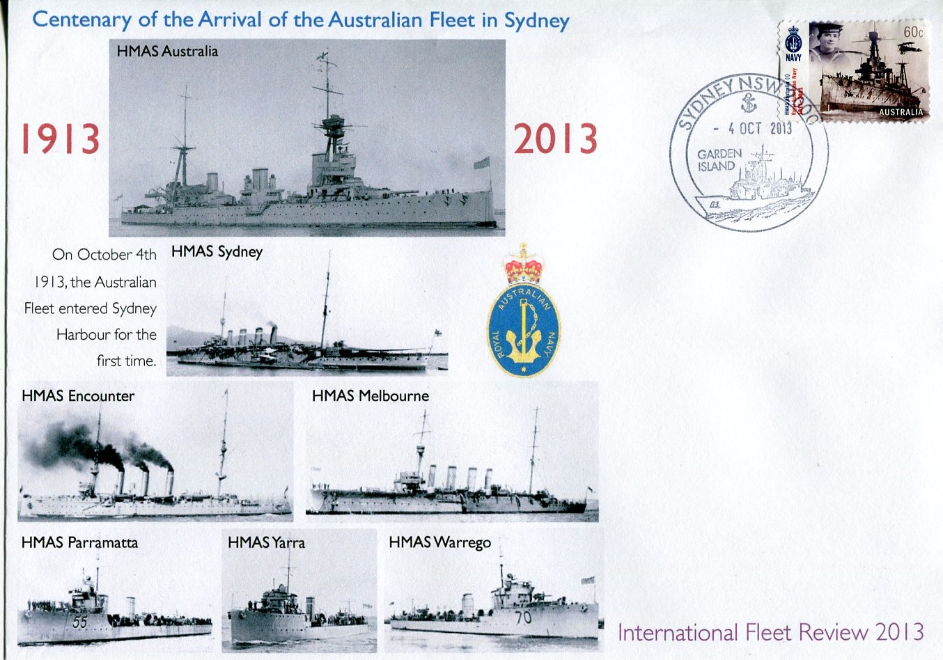 Centenary of the arrival of the Australian Fleet in Sydney