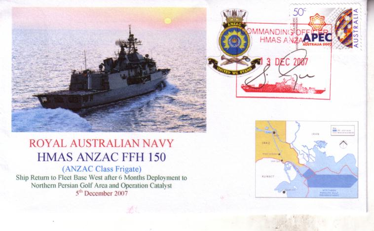 HMAS ANZAC deplotyment to Persian Gulf Area