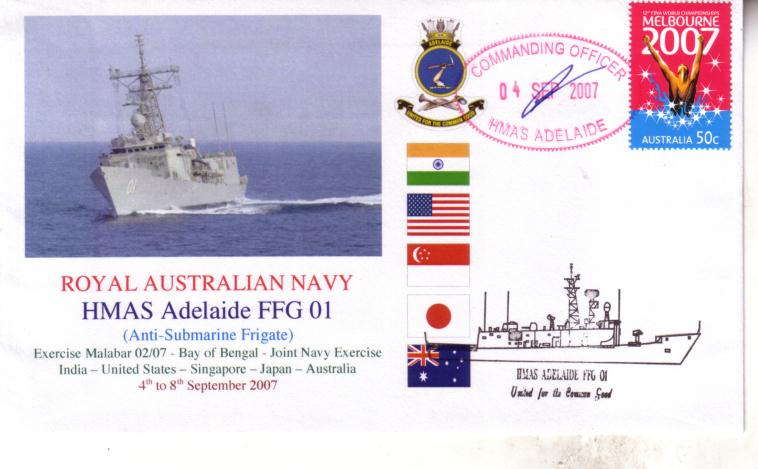 HMAS Adelaide visit to India