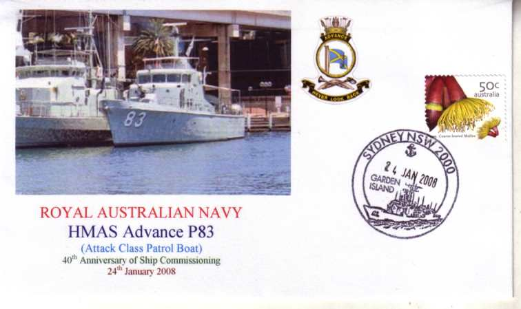HMAS Advance Patrol Boat P 83 40th Anniversary