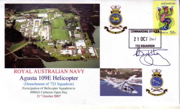 A 109E Agusta HMAS Cerberus open Day 2007 cover