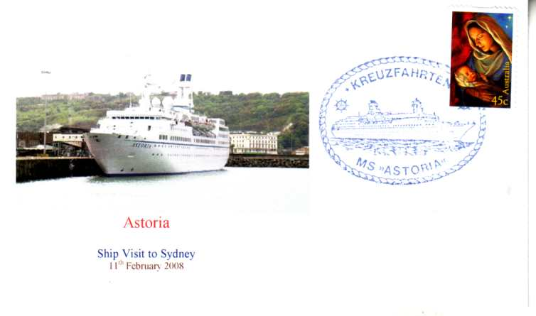 Astoria cruise ship visit to Sydney cover 2008