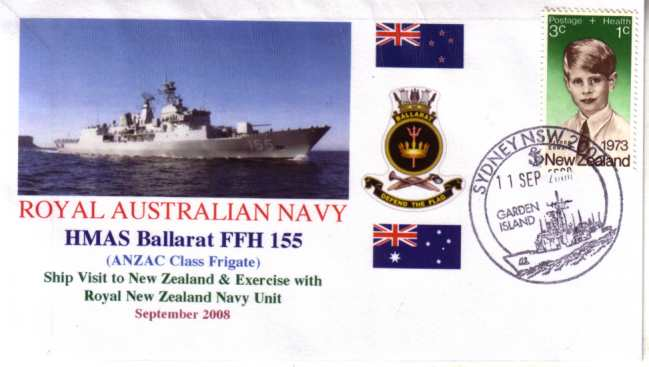 HMAS Ballarat visit to New Zealand cover