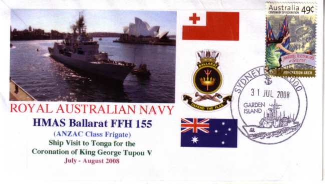 HMAS Ballarat visit to Kingdom of Tonga cover