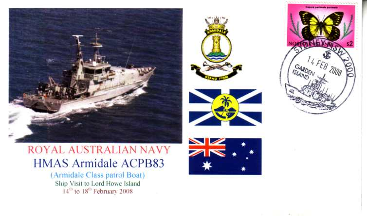 HMAS Armidale visit to Norfolk Island cover