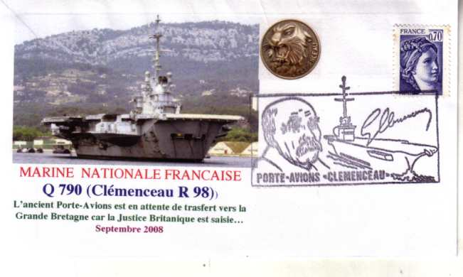 French Aircraft Carrier Cl�menceau Sep 2008 cover