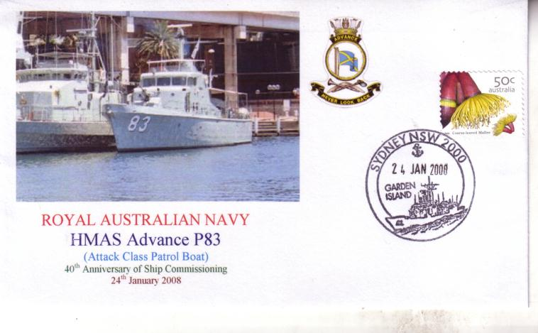 HMAS Advance cover