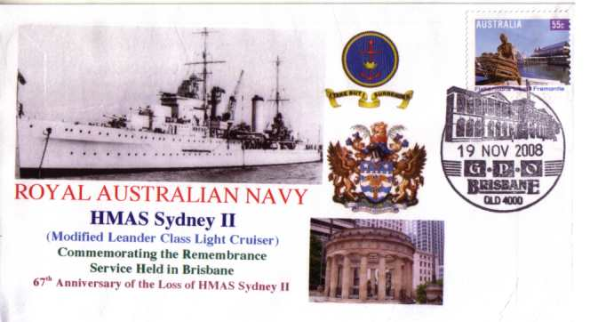HMAS Sydney II - 19 Nov 2008 - Brisbane cover