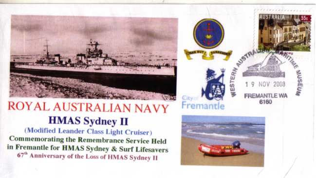 HMAS Sydney II - 19 Nov 2008 Fremantle cover