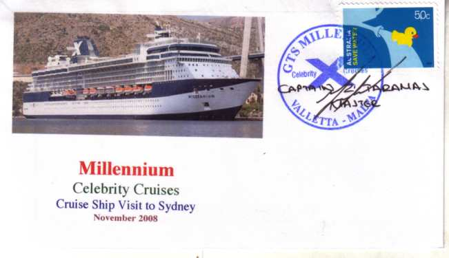 Millennium cruise ship cover - Click Image to Close