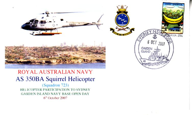 Navy Squirrel Helicopter cover