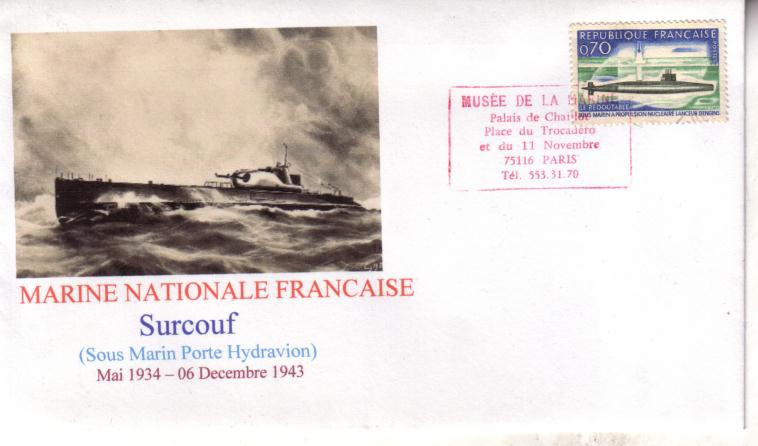 French Submarine Surcouf Cover
