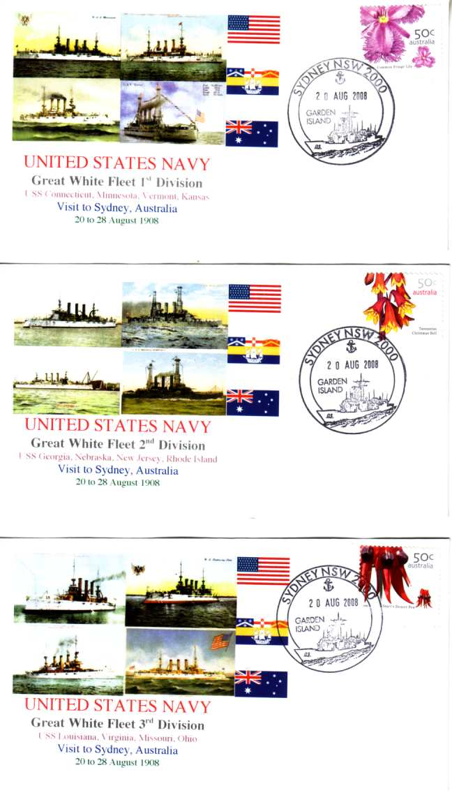 Great White Fleet visit to Sydney (set of 5 covers)