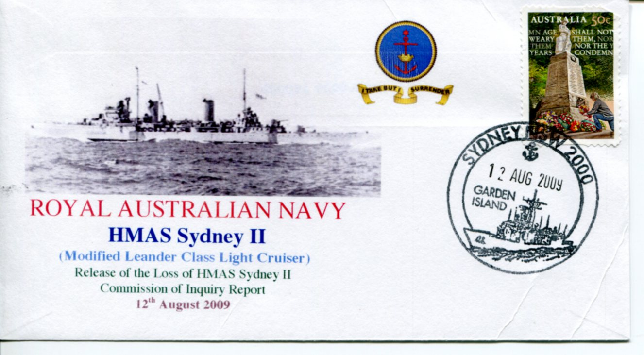 HMAS Sydney II - 12 August Release of Commission Report