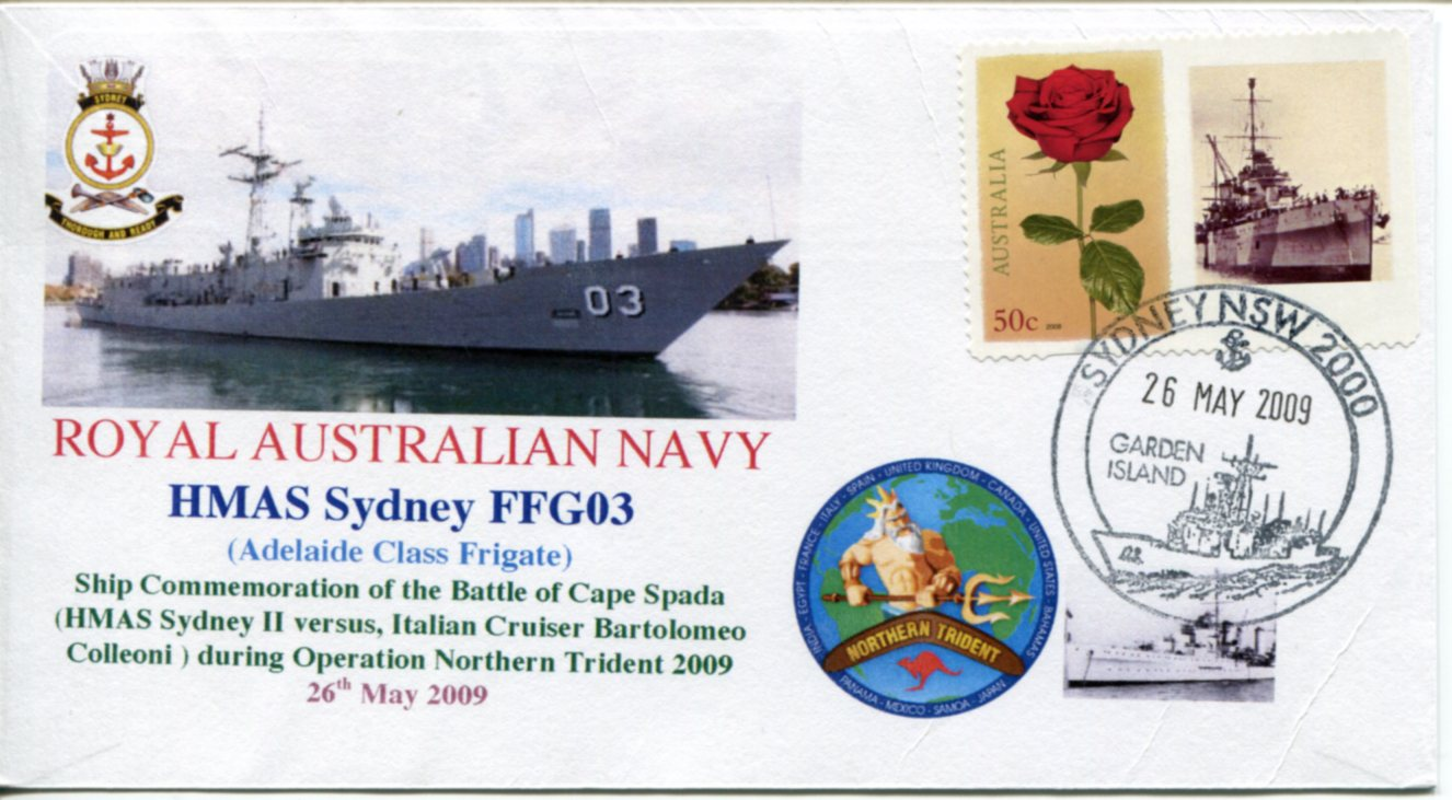 HMAS Sydney - Northern Trident Cape Spada Battle cover
