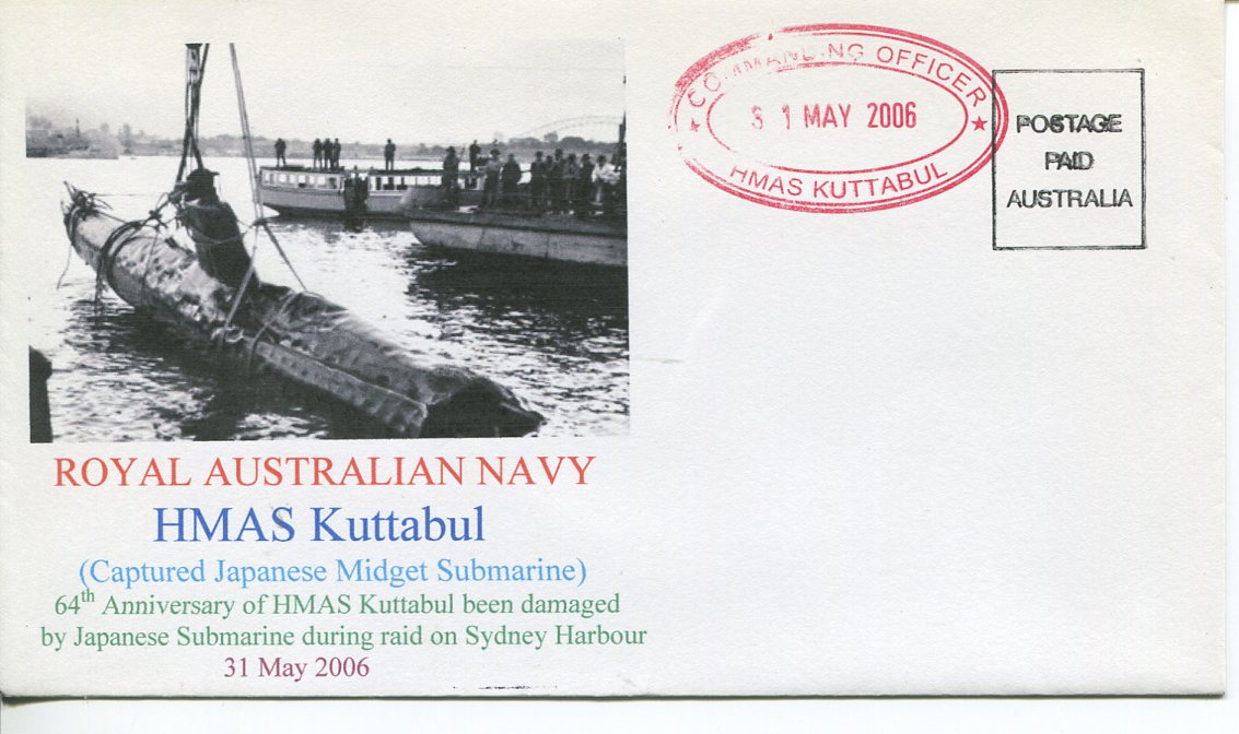 HMAS Kuttabul 64th Anniversary cover