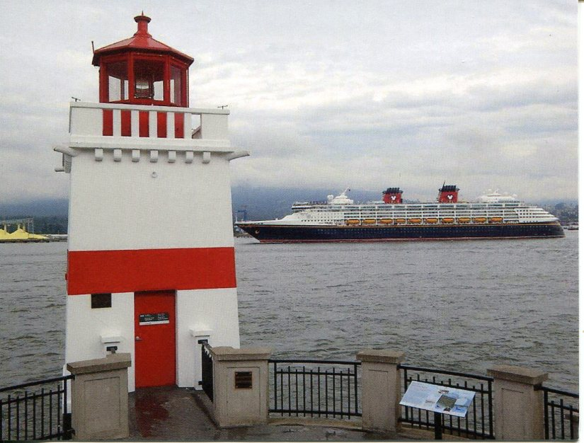 Canada - Brockton Point Lighthouse - Disney Cruise Ship