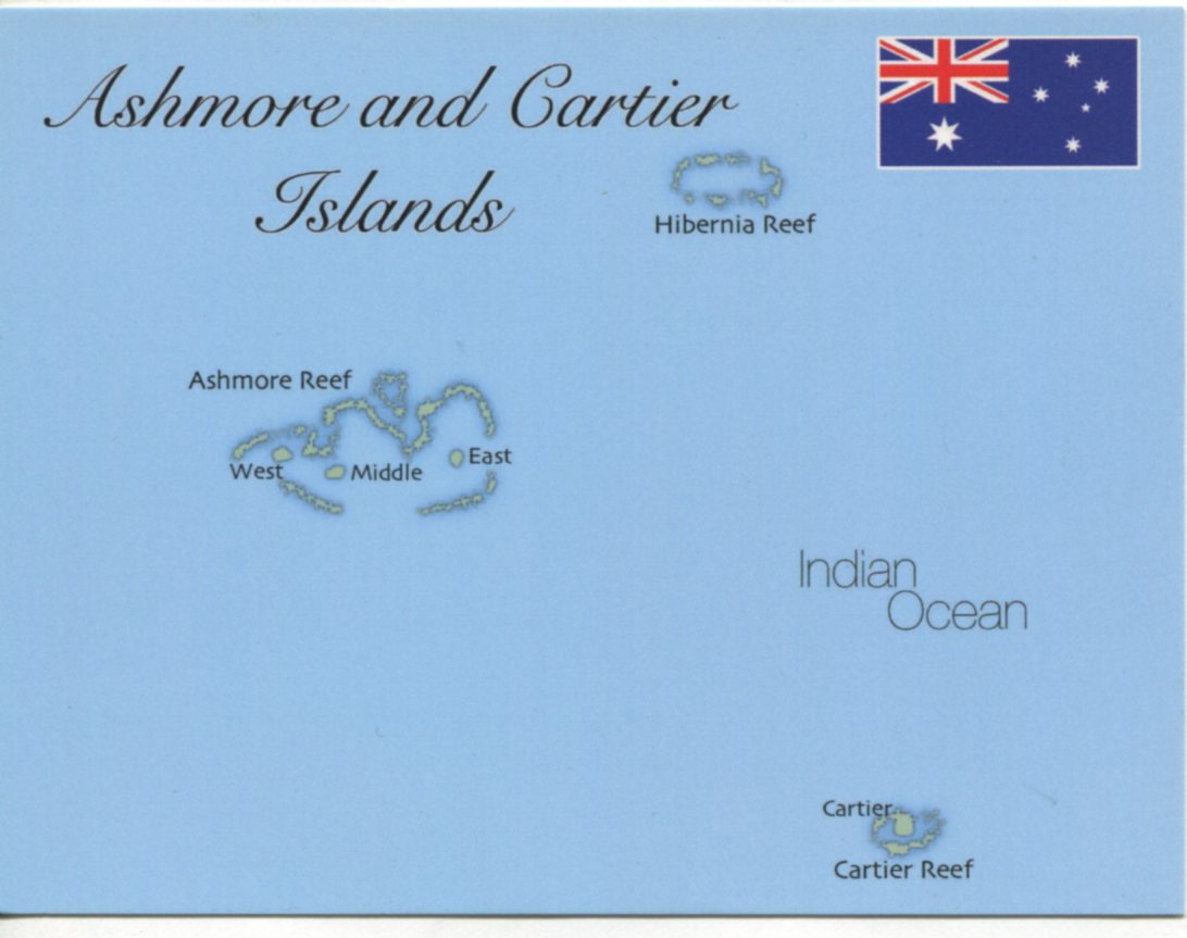 Map of Ashmore & Cartiers Islands