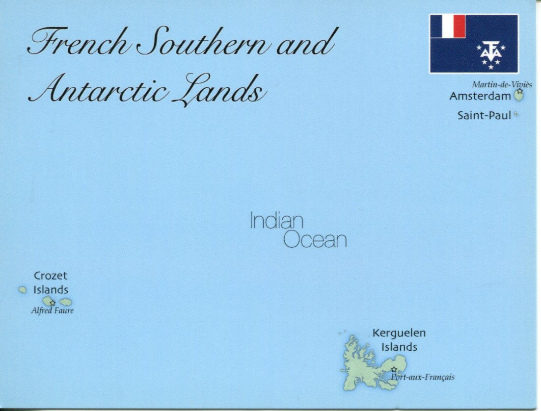 Map of French Southern and Antarctic Lands (TAAF)
